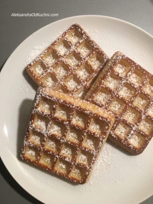 Pieczone gofry z piekarnika