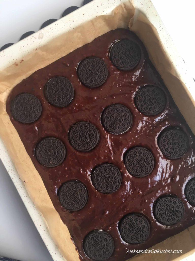 Czekoladowe brownie z oreo