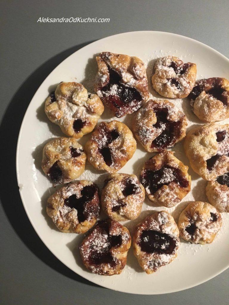 Ciasteczka francuskie z dżemem
