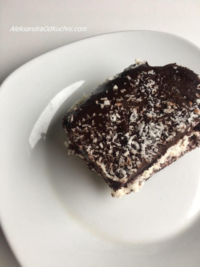 Czekoladowe brownie z kremem