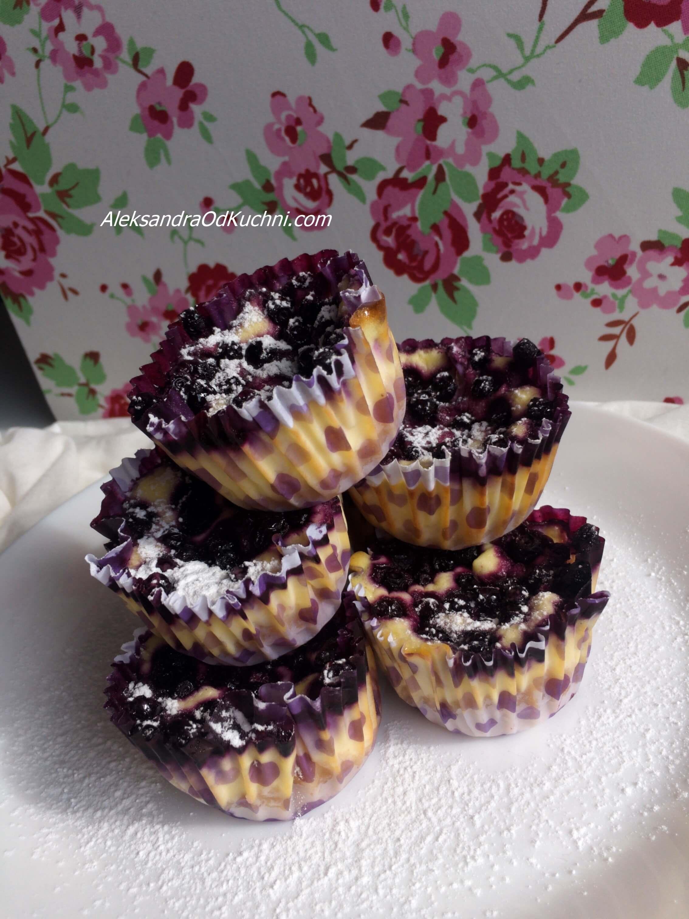 Mini serniczki z jagodami